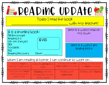 SeeSaw Reading Update (Evaluation) FREEBIE!