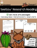 SeeSaw™ Research Reading Desert Animals Distance Learning