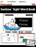 SeeSaw™ Sight Word Book #1 THE Distance Learning