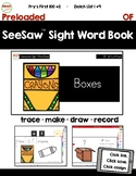 SeeSaw™ Sight Word Book #2 OF Distance Learning