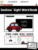 SeeSaw™ Sight Word Book #4 A Distance Learning
