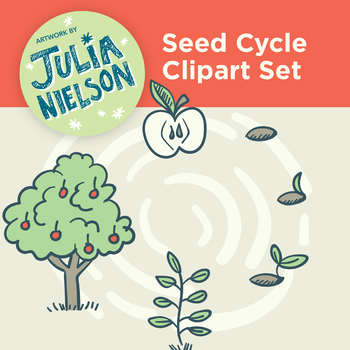 Seed Cycle Clipart Set