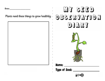 Seed Germination Diary
