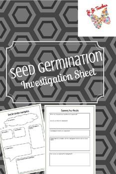 Seed Germination Investigation Worksheet