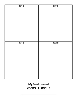 Seed Growth Journal