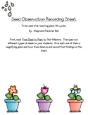 Seed Observation Recording Sheet