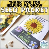 Seed Packet FREEBIE | Mother's & Father's Day | Teacher Ap