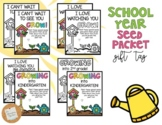 Seed Packet Gift Tag: School Year *EDITABLE