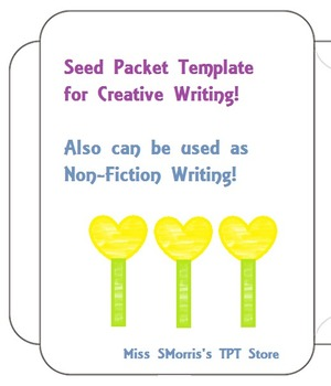 Seed Packet Writing Template
