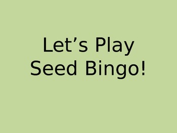 Seed Parts Bingo!
