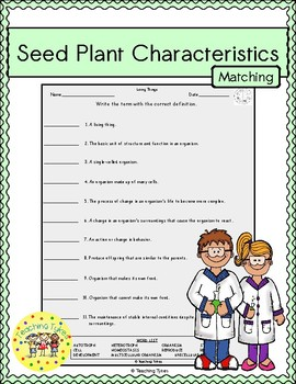 Seed Plant Characteristics Matching