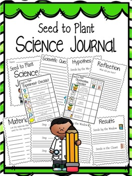 Seed to Plant Science Journal Writing Pages & Checklists!