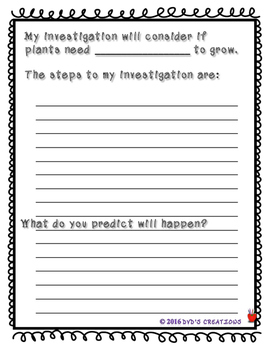 Primary Plant Growth Lab w/ both Interactive Notebook pages or Lab Journal