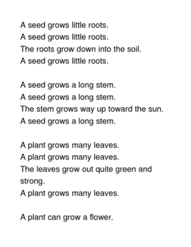 Seed/Plant Song