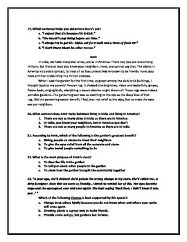 Seedfolks: Assessment Pack for Novel Study