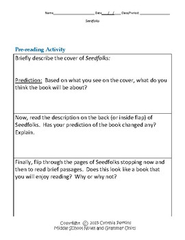 Seedfolks Complete Literature and Grammar Unit