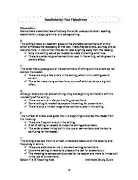 Seedfolks Novel Study Guide