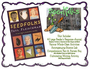 Seedfolks Novel Study Unit