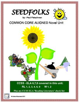 SEEDFOLKS Novel Study, Common Core Aligned