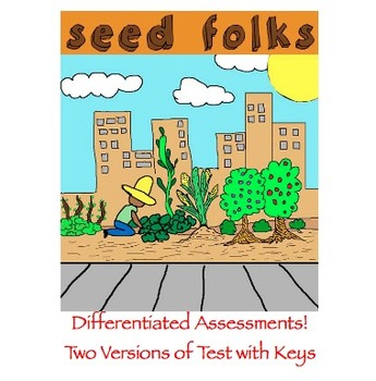 Seedfolks by Paul Fleischman -  TWO Tests with Keys