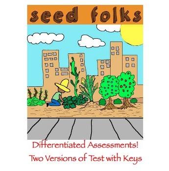Seedfolks by Paul Fleischman -  TWO Tests with Keys