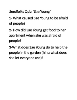 """Seedfolks Quiz """"Sae Young"""" chapter"""