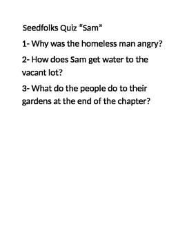 "Seedfolks Quiz ""Sam"" chapter"