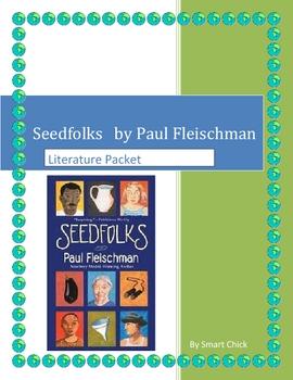"""Seedfolks"", by Paul Fleischman, HUGE 72 page Literature Unit & KEYS"