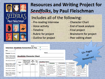 Seedfolks, by Paul Fleischman: Resources, Activities, & Final Project (MS Word)