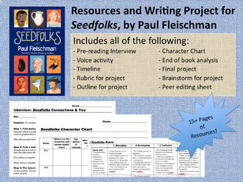 Seedfolks, by Paul Fleischman: Resources, Activities, and Final Project (PDF)