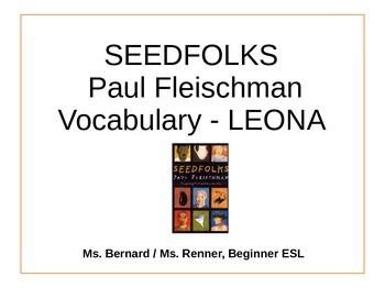 IR Seedfolks by Paul Fleischman Vocabulary - Leona PPt