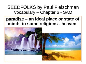 IR Seedfolks by Paul Fleischman Vocabulary - Sam PPt