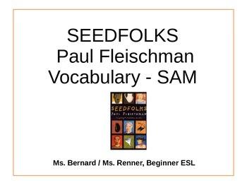 IR Seedfolks by Paul Fleischman Vocabulary - Sam PPt