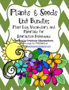 Plants & Seeds Unit-Activities, Flipbooks, Recording Log, Investigations