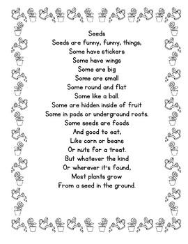 Seeds  Poem Poetry Center Pack