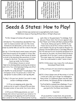 Seeds & States: East Coast
