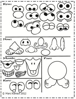Slobbery image throughout mr potato head printable parts