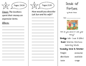 Seeds of Fortune Trifold - 2nd Grade Literacy by Design Theme 13