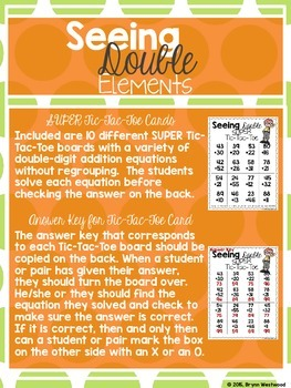 Seeing Double-Adding Double Digit Numbers w/o Regrouping