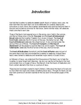 Seeing Jesus in the Feasts of Israel