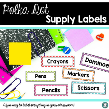 Seeing Spots - Polka Dot Room Decor (Labels, Numbers, Name Tags, Posters, etc.)