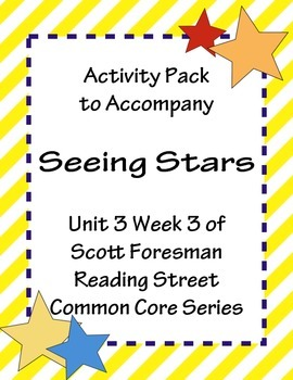 Seeing Stars Activity Pack Scott Foresman Reading Street Common Core