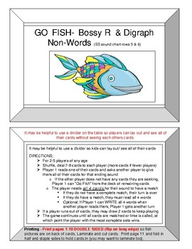Seeing Stars BOSSY R and Digraphs GO FISH GAME !