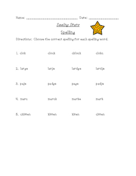Seeing Stars Differentiated Spelling (Scott Foresman Reading Street)