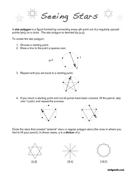 Seeing Stars - Drawing Star Polygons