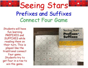 Seeing Stars PREFIXES and SUFFIXES CONNECT FOUR GAME