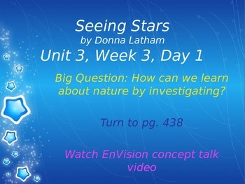 Seeing Stars PowerPoint Reading Street 3.3.3