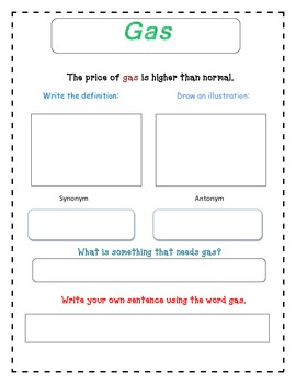 Seeing Stars - Selection Vocabulary
