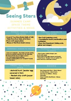 Seeing Stars Summer Camp Theme And Ideas By The Horton Way Tpt