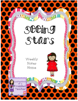 Seeing Stars Weekly Take Home Letters (Scott Foresman Reading Street)
